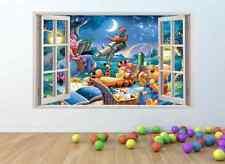 WINNIE THE POOH l'effetto finestra Muro ARTE Adesivo * DIMENSIONE GIGANTE * PW81