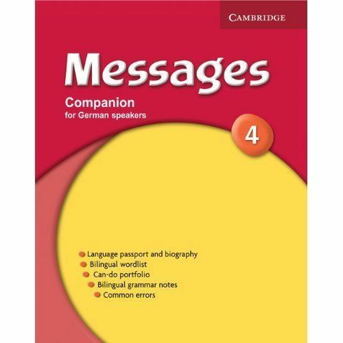 Messages 4 Companion German edition by Cambridge University Press (Paperback,...