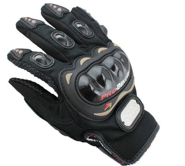 Gants pour scooter moto quad dirt noir avec protection *