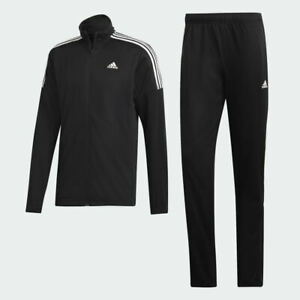 Adidas-MTS-Team-Sports-Track-Suit-Jacket-Pants-Black-White-3-Stripes-DV2447-Men