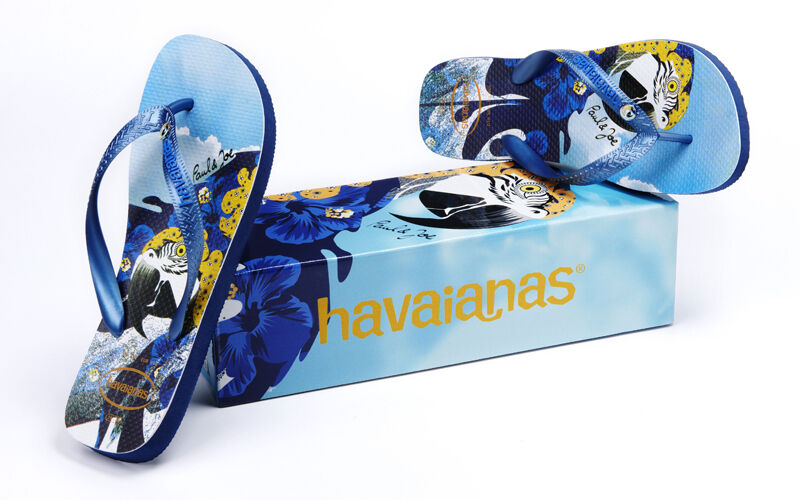 Tong nu-pieds HAVAIANAS PAUL AND JOE homme blue NEUF