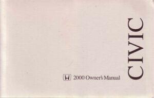 2004 Honda Civic Sedan Owners Manual User Guide Reference Operator ...