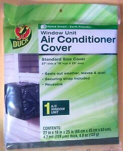 Duck window air conditioner cover 27 w x 18 h x 25 d for 18 x 27 window