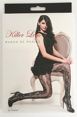 Fishnet Pantyhose One-Size Wrapped In Bows Design Yelete Ships From California!!
