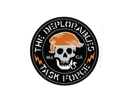The DEPLORABLES Patch Biker for Donald Trump Patriot NRA Jacket USA T-shirt MAGA