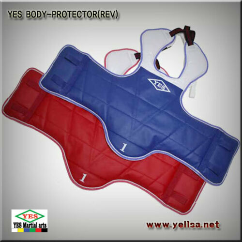 YES reversible body chest protector//TAEKWONDO//KARATEDO//SIZE ALL