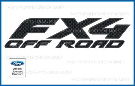 carbon fiber pattern stickers FCFB set of 2 97/<-/>08 Ford FX4 Off Road Decals