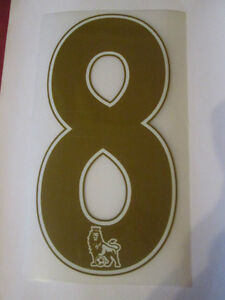 no-8-Premier-League-EPL-Football-Shirt-Name-Set-Rear-Number-Gold-Sporting-ID