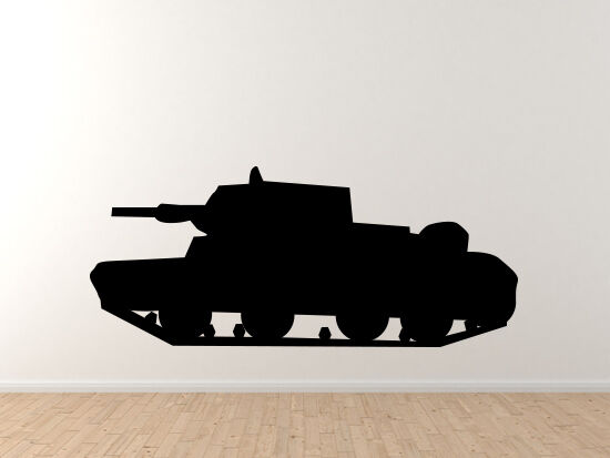 World War 2 II - Tank Version 3 - Classic Military Armor  - Vinyl Wall Decal