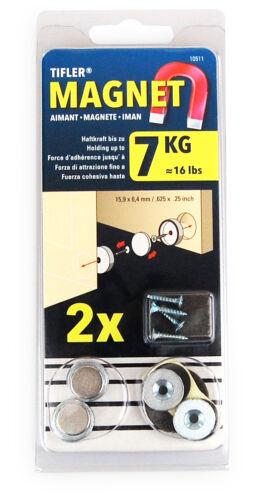Magnetschnapper von Tifler Türmagnet zum Einlassen 2 Stück im Set