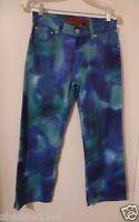 Parasuco Blue Snake Print Cotton Stretch Pant Size 26 28w X 24l