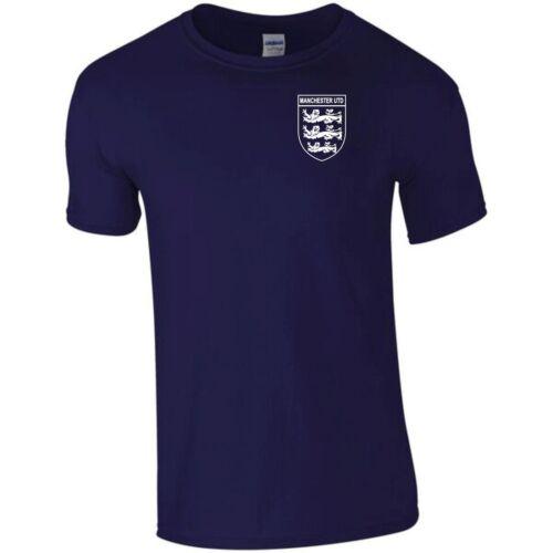 Manchester Utd 3 Lions club et pays petit Crest T-shirt kids