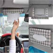 Auto Car sun visor Tissue box accessories holder Paper napkin clip- PU leather ~