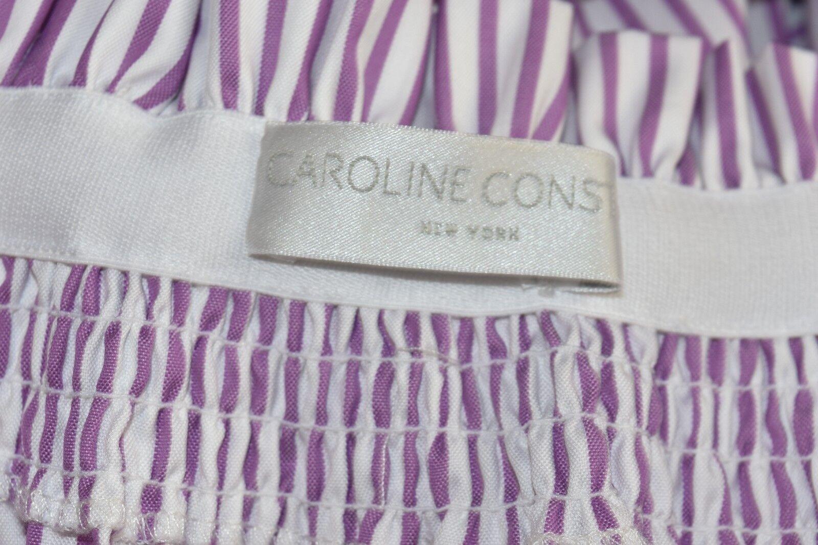 Nuovo Caroline Constas Lou Lou Lou con Spalle Scoperte Vestito a Righe Viola BIANCO S 8bc84f