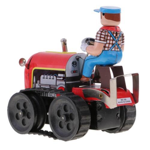 Tracteur agricole classique Jouet en étain Jouets décoratifs à main