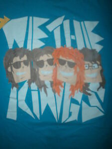 We the kings t shirt band members cartoon caricature smile for We the kings t shirts