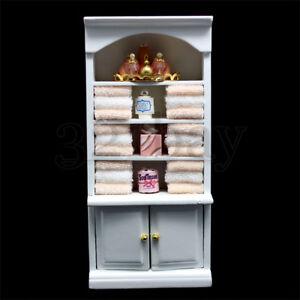 Miniatur Puppenhaus Badezimmer Bad Handtuch im Maßstab 1:12 aus Stoff Tuch 1zu12 Puppenstuben & -häuser