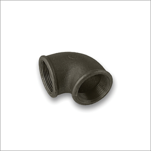 """Elbow 90 Degree Female Female Black Malleable Iron Pipe Fitting BSP 1/2"""" & 3/4"""""""