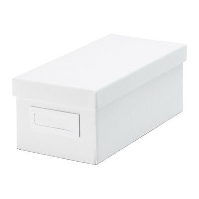 IKEA - TJENA STORAGE BOX with LID - (WHITE) TEST PRODUCT - NOT FOR SALE