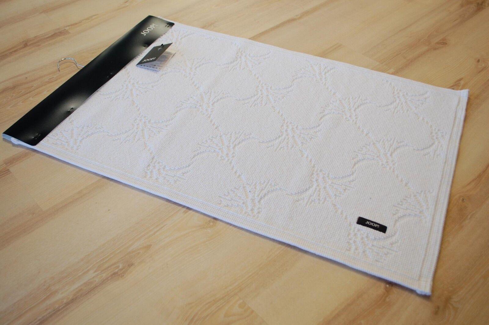JOOP  Badematte Badteppich 60 New New New Cornflower 001 Weiß 70x120 cm 18ab84