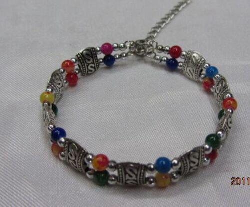 Fashion jewelry Tibet Tibetan silver ladies Lucky beads bracelet bangle 1xf