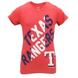Texas Rangers Official MLB Genuine Apparel Kids Youth Girls T-Shirt ... 9cdf91735