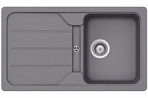 Schock Formhaus D 100 Croma Grau Granitspule Spule Einbau