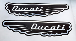 Ducati Monster Or Other Project Old Logo Wings Fuel Tank Decals Ebay