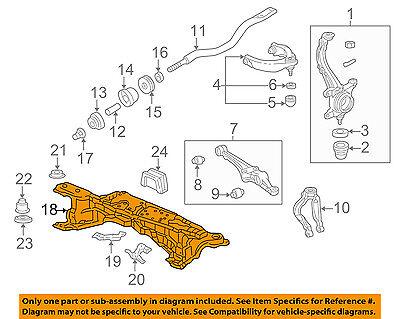 98 99 00 01 02 Accord V6 3.0L Rack/&Pinion Crossmember FR Suspension Rear Frame