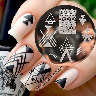 New Negative Space Nail Art Stamping Template Image Steel Plate BORN PRETTY BP77
