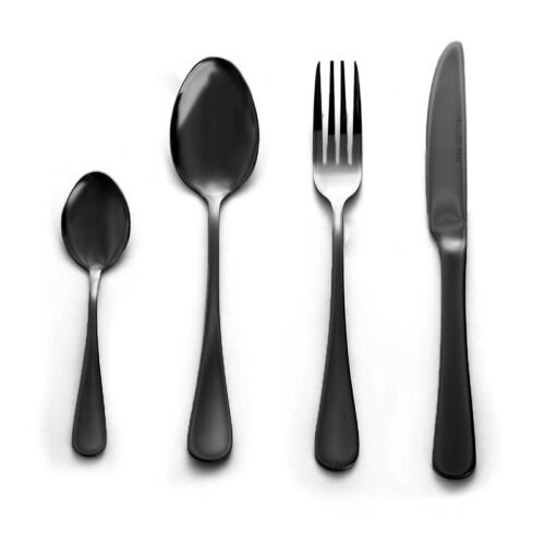 Stainless Steel Cutlery Sets Rainbow Iridescent Black Steak Forks 4//8//16// 24 pcs
