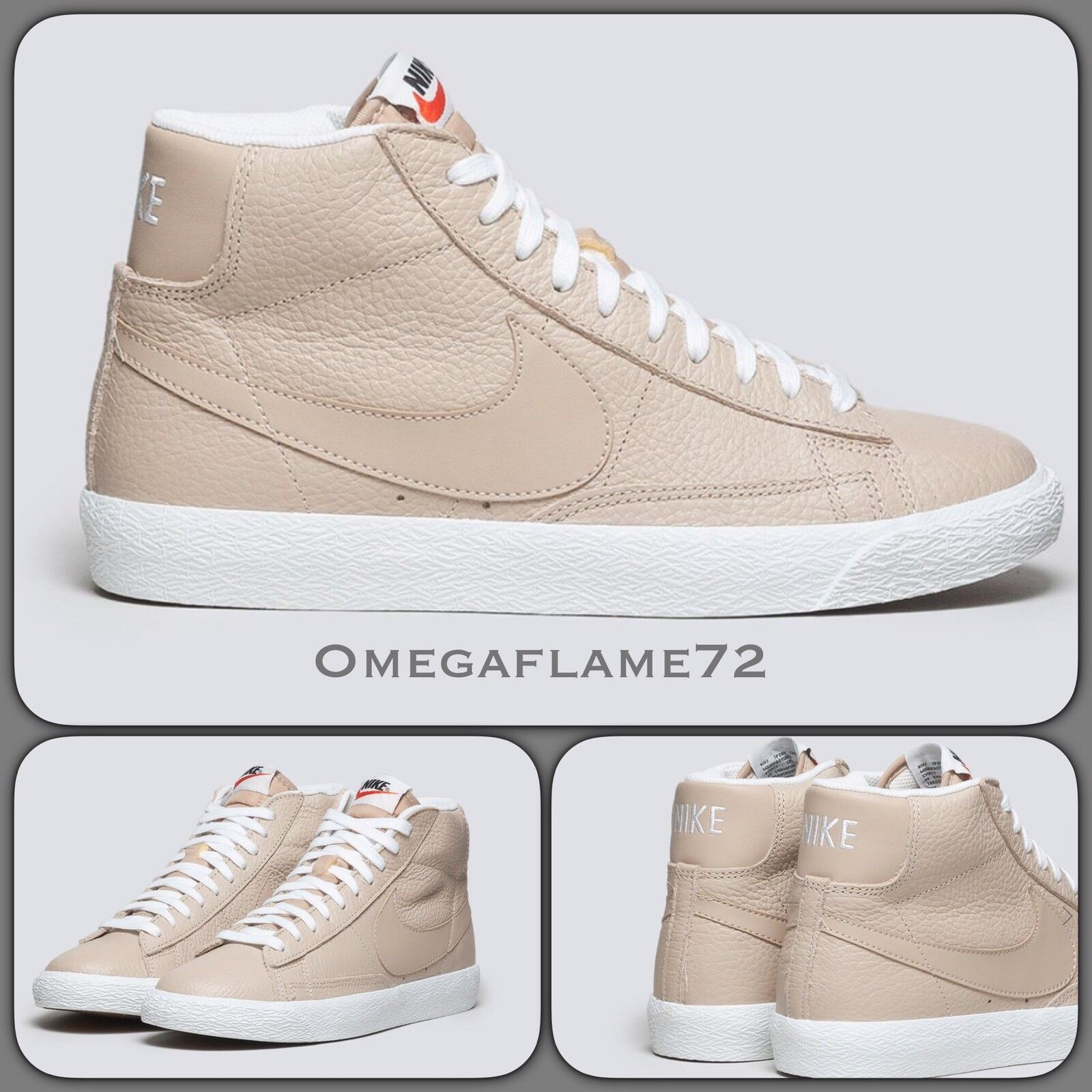 Nike Blazer Mid Premium Leather 429988-202 USA 10, Vachetta