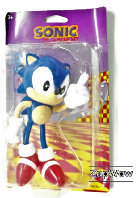 SONIC THE HEDGEHOG 1991 FLEXI-FRIEND Bendy Toy Figure 1990s SEGA Vintage Tomy