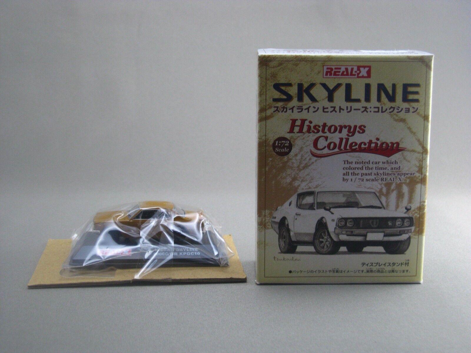 NISSAN SKYLINE 2000GT - R KPGC10 brun 1 72 REAL X HISTORIER