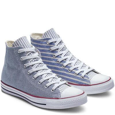Star pinstripe hi-top sneakers