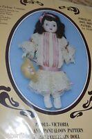Western Trimming Victoria Dress & Pantaloon Sewing Pattern 18-20 Dolls