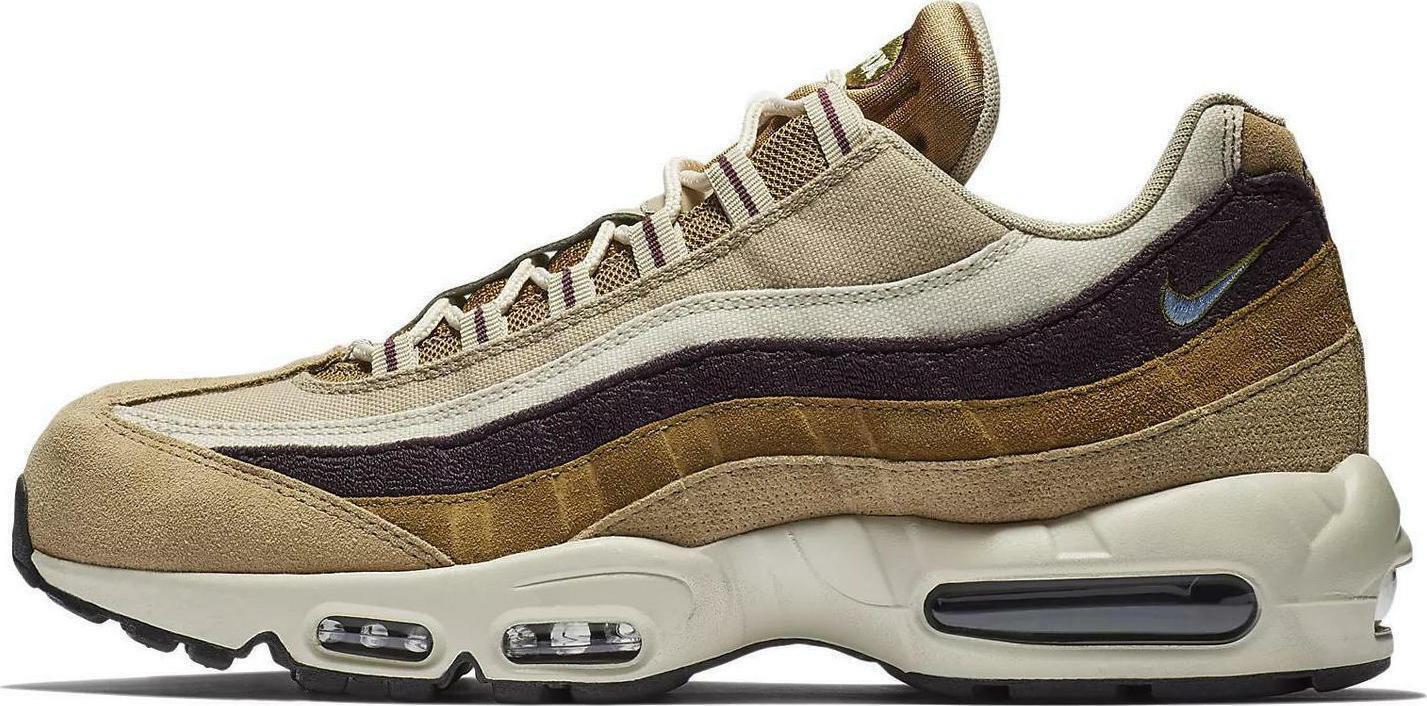 Mens Nike Air Max 95 Premium 538416 205 Cream Brown Beige