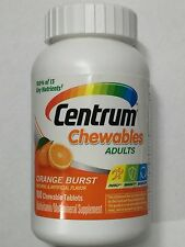 Centrum Multivitamin / Multimineral Supplement Orange flavored Chewables 100 ct