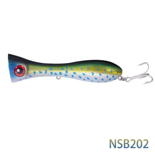 Noeby popper lure bait 8 inch 4 1//3 oz Topwater Saltwater Fishing tuna hooks