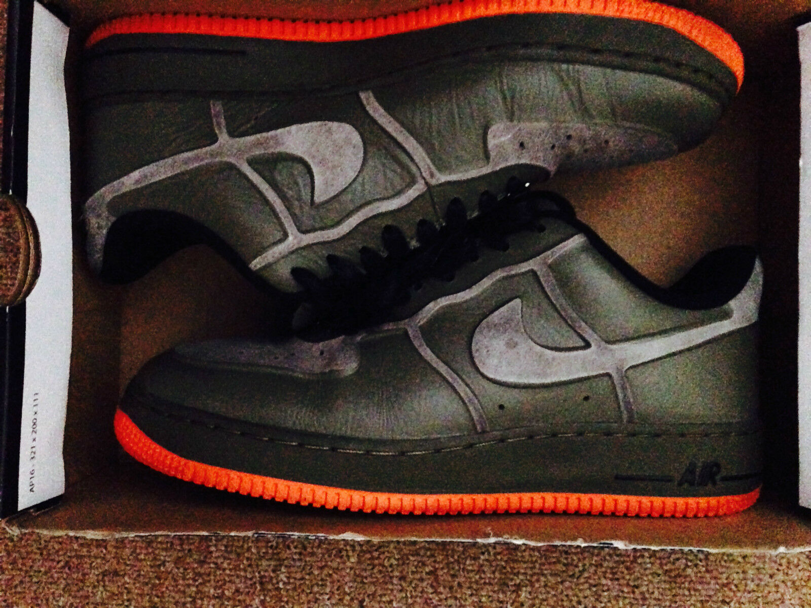 Men's Nike Air Force 1 Medium Olive Size 8 Very Nice!!!