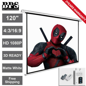 120-034-Electric-Motorised-Projector-Screen-Home-Cinema-3D-HD-16-9-4-3-Projection