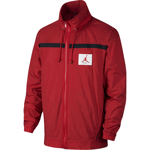 Jordan Sportkleidung der Flug Windjacke Neu Herren Fitnessstudio Rot Schwarz
