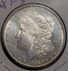1887 S Morgan Silver Dollar Tougher Date Ms Uncirculated No Reserve Auction Ebay