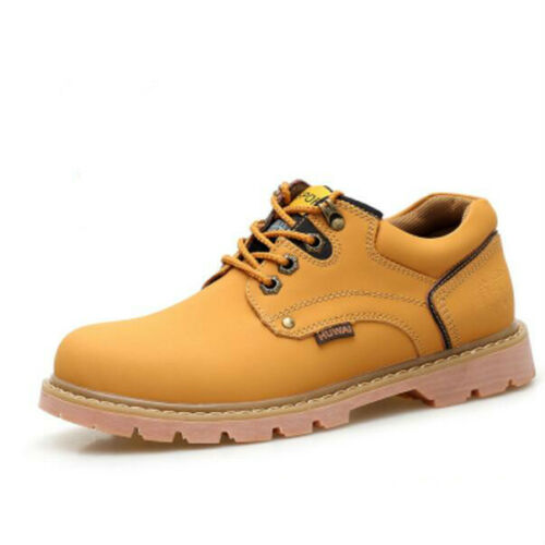Mens Leather Lace Up Round Toe Low Top Thick Sole Fashion Casual Shoes Hot A1022