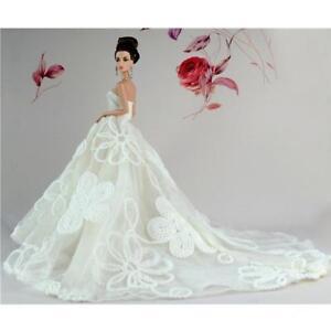 Doppio-Strato-Vestito-Da-Sposa-Moda-Stile-Elegante-Per-Barbie-Bambole-28-5cm