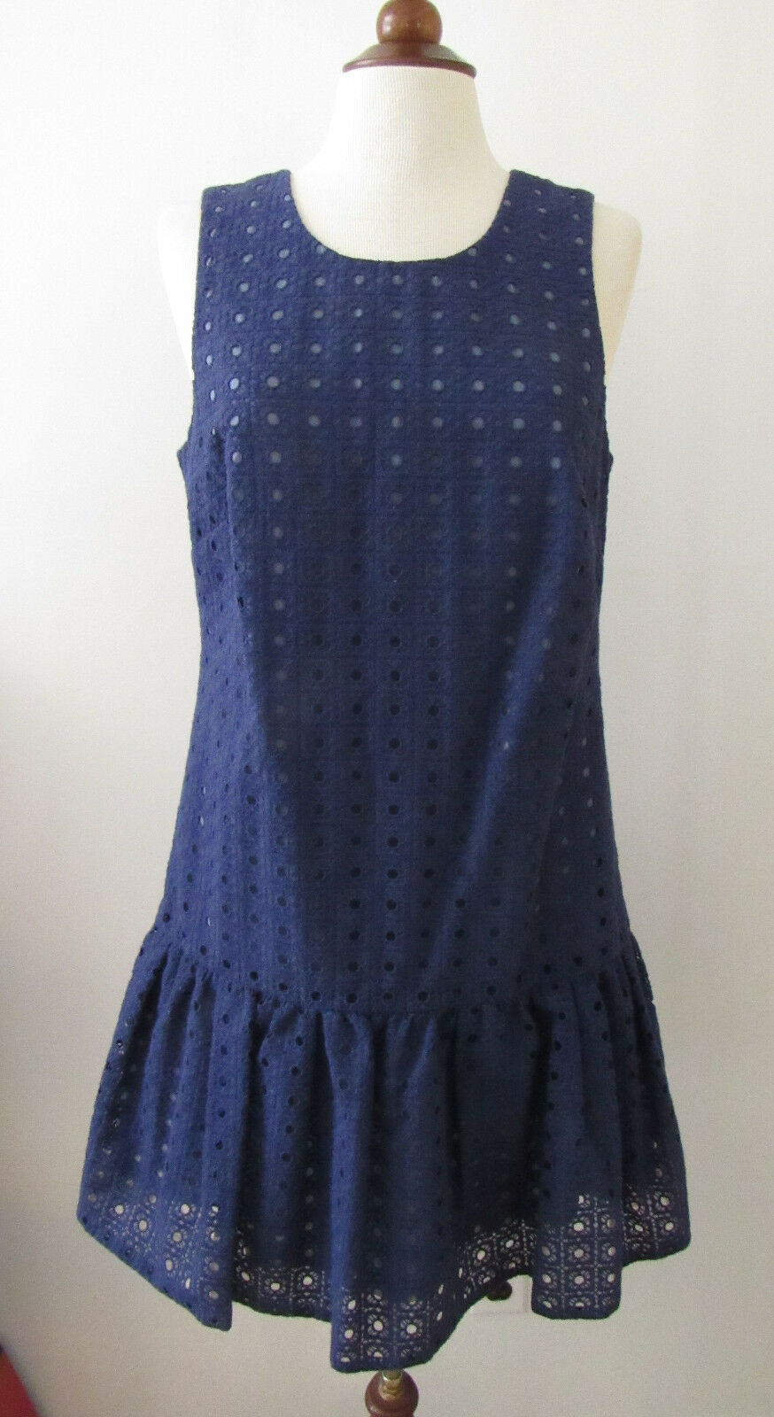 NWT Womens J. CREW bluee Organza Eyelet Anna Dress  Size 10