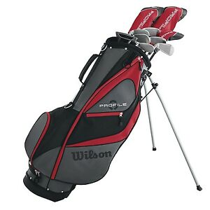 Wilson-Profile-XD-Men-039-s-RH-Flex-Graphite-Steel-Golf-Club-Stand-Bag-Package-Set