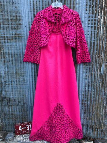 Vintage 60s/1970s MAXI DRESS & AMAZING CUT OUT Bol