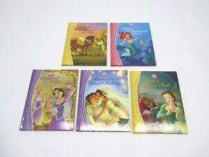 Lot-of-5-Disney-The-Princess-Collection-Books-Rapunzel-Belle-Ariel-Phillipe
