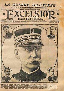 """Portrait Général Joseph Gallieni Madagascar Tonkin Afrique France WWI 1916 - France - Commentaires du vendeur : """"OCCASION ATTENTION,QUE LA COUVERTURE, PAS LE JOURNAL ENTIER. Just the cover, not newspaper."""" - France"""